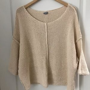 AERIE PEACH CHUNKY DROP SHOULDER SWEATER